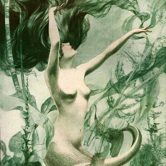La Vie Parisienne 1927 Voici Les Baigneurs Cheri Herouard crop | Best of Vintage Cover Art 1900-1970