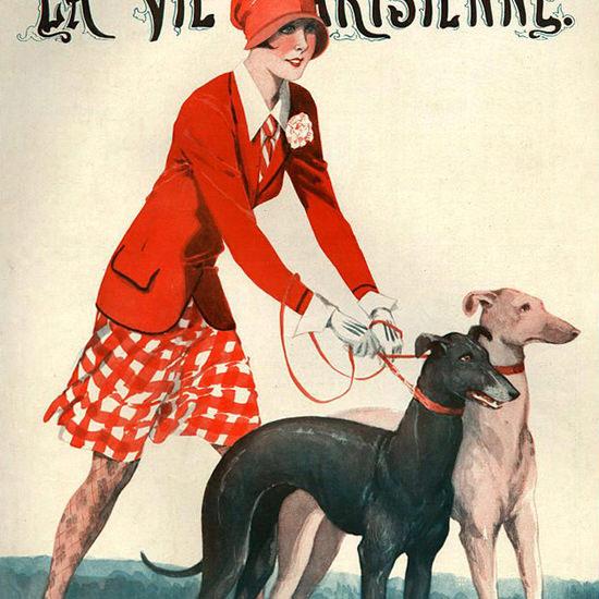 La Vie Parisienne 1928 Coursing Georges Leonnec crop | Best of 1920s Ad and Cover Art