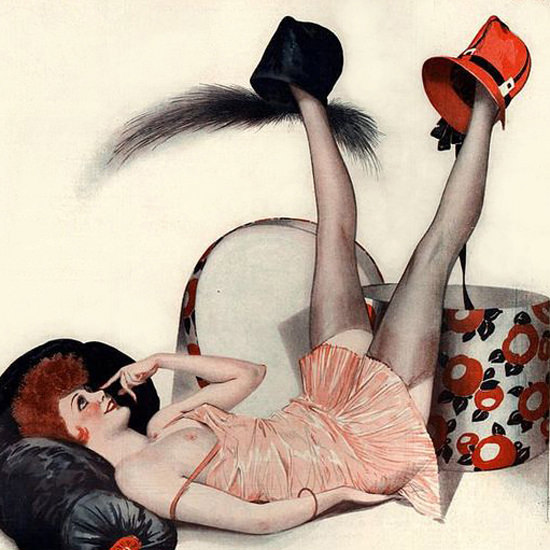 La Vie Parisienne 1928 L Embarras Du Choix Georges Leonnec crop | Best of 1920s Ad and Cover Art