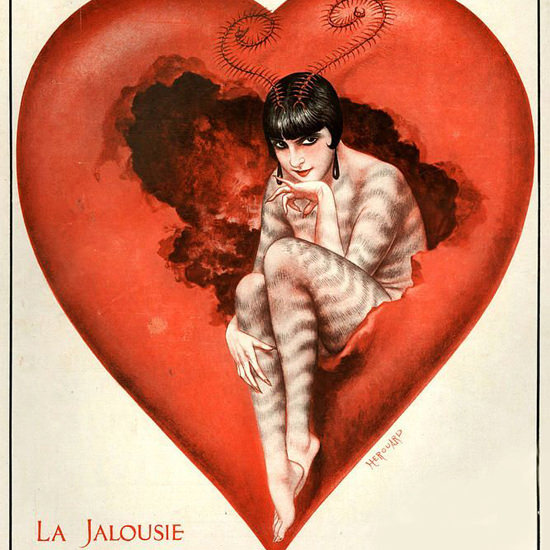 La Vie Parisienne 1928 La Jalousie Cheri Herouard crop | Best of 1920s Ad and Cover Art