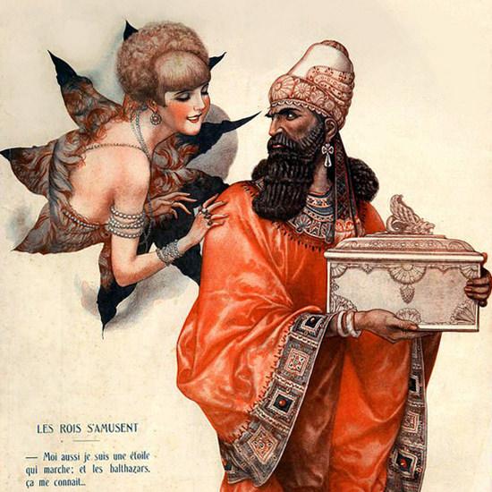 La Vie Parisienne 1928 Les Pois S Amusent Cheri Herouard crop | Best of 1920s Ad and Cover Art