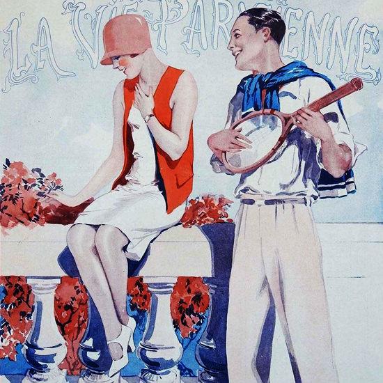 La Vie Parisienne 1928 Musique De Chambre Georges Leonnec crop | Best of Vintage Cover Art 1900-1970