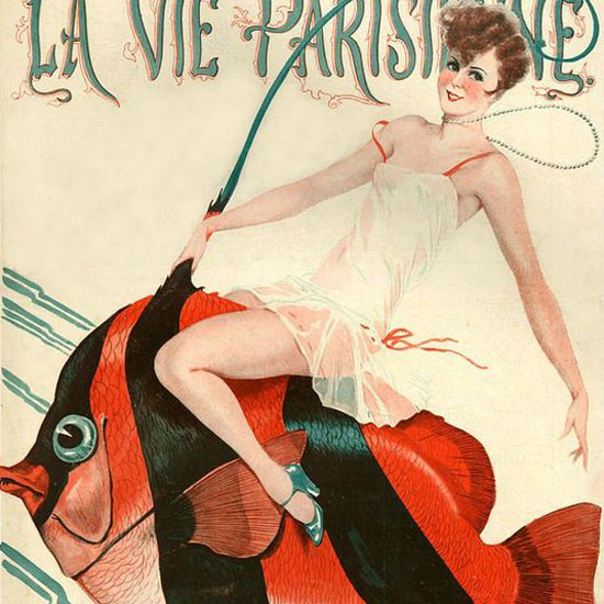 La Vie Parisienne 1928 Poisson D Avril Georges Leonnec crop | Best of 1920s Ad and Cover Art