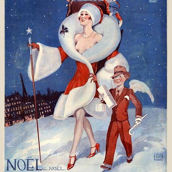 La Vie Parisienne 1928 Pour Les Enfants Sages Georges Leonnec crop | Best of Vintage Cover Art 1900-1970