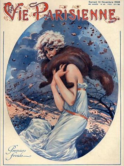 La Vie Parisienne 1928 Premiers Froids Sex Appeal | Sex Appeal Vintage Ads and Covers 1891-1970