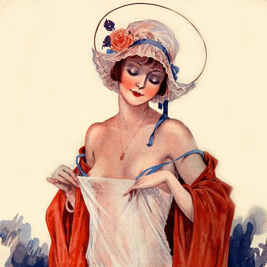 La Vie Parisienne 1928 Seins De Catherine Georges Leonnec crop | Best of 1920s Ad and Cover Art