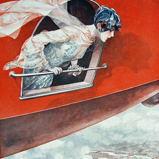 La Vie Parisienne 1928 Seulement Pekin Cheri Herouard crop | Best of Vintage Cover Art 1900-1970