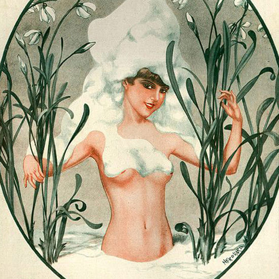La Vie Parisienne 1928 Sourire De Mars Cheri Herouard crop | Best of Vintage Cover Art 1900-1970