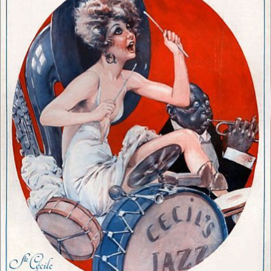La Vie Parisienne 1928 Ste Cecile Moderne Maurice Milliere crop | Best of 1920s Ad and Cover Art