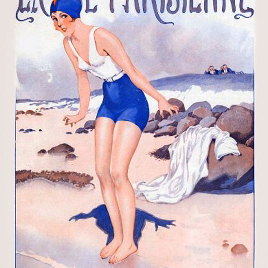 La Vie Parisienne 1928 Suzette Au Bain Georges Leonnec crop | Best of 1920s Ad and Cover Art