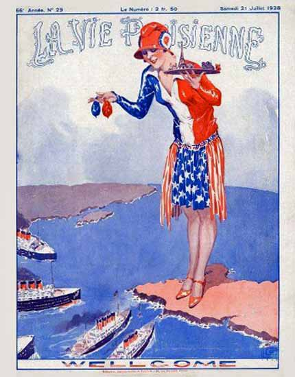 La Vie Parisienne 1928 Wellcome Sex Appeal | Sex Appeal Vintage Ads and Covers 1891-1970