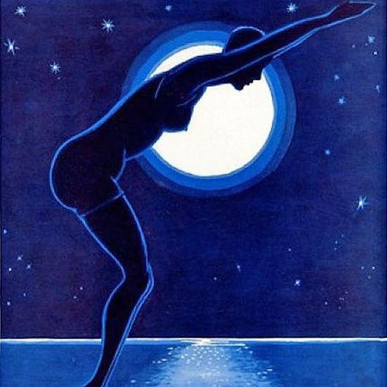La Vie Parisienne 1929 Bain Nocturne Eclipse crop | Best of Vintage Cover Art 1900-1970