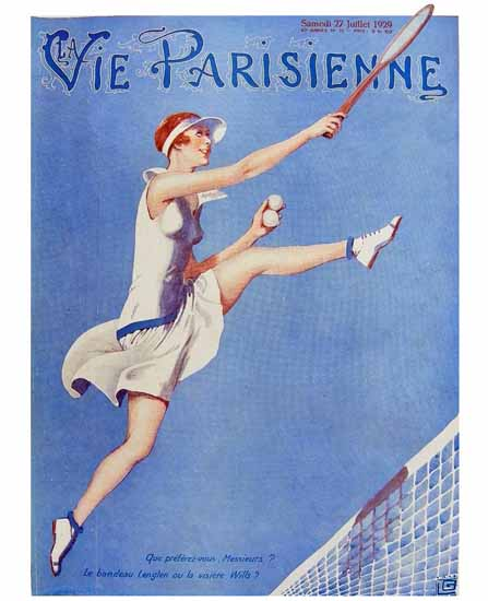 La Vie Parisienne 1929 Bandeau Lenglen Georges Leonnec Sex Appeal | Sex Appeal Vintage Ads and Covers 1891-1970