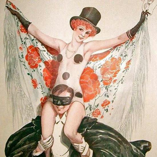 La Vie Parisienne 1929 Carnaval Georges Leonnec crop | Best of Vintage Cover Art 1900-1970