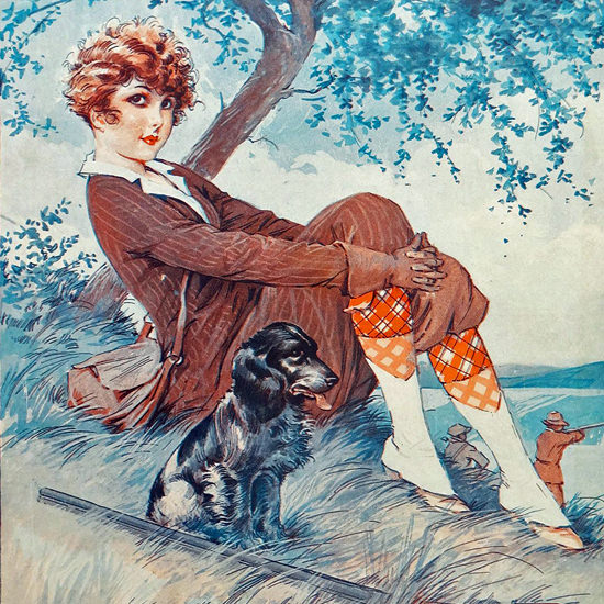La Vie Parisienne 1929 Je Surveille Mon Mari Maurice Milliere crop | Best of Vintage Cover Art 1900-1970