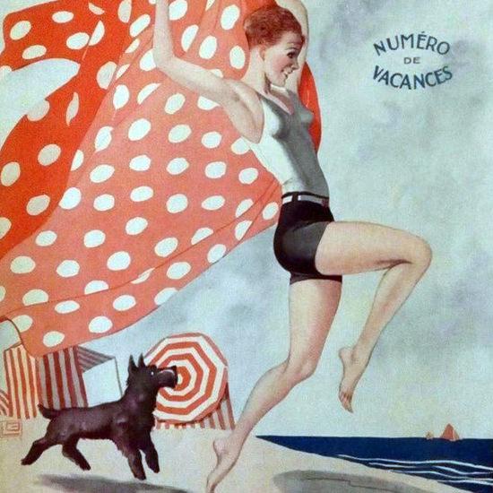 La Vie Parisienne 1929 La Fifille A La Me Mer Georges Leonnec crop | Best of 1920s Ad and Cover Art