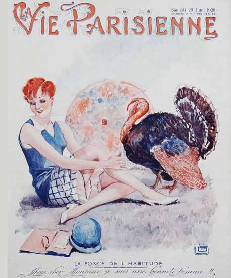 La Vie Parisienne 1929 La Force De L Habitude Sex Appeal | Sex Appeal Vintage Ads and Covers 1891-1970