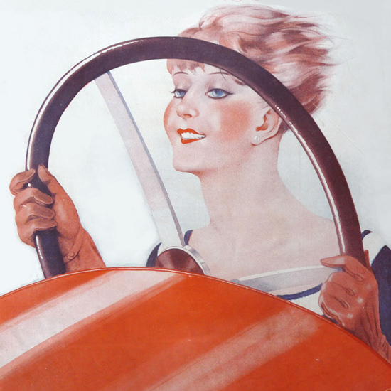 La Vie Parisienne 1929 La Reine De La Vitesse crop | Best of 1920s Ad and Cover Art