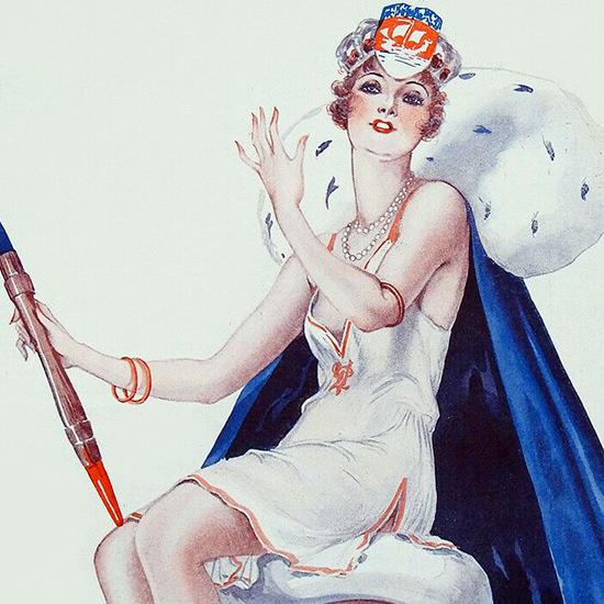 La Vie Parisienne 1929 Le Char De La Vie Parisienne Georges Leonnec crop B | Best of 1920s Ad and Cover Art