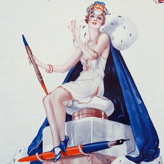 La Vie Parisienne 1929 Le Char De La Vie Parisienne Georges Leonnec crop | Best of Vintage Cover Art 1900-1970