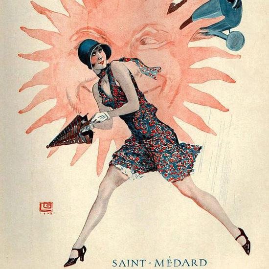La Vie Parisienne 1929 Saint-Medard Georges Leonnec crop | Best of Vintage Cover Art 1900-1970