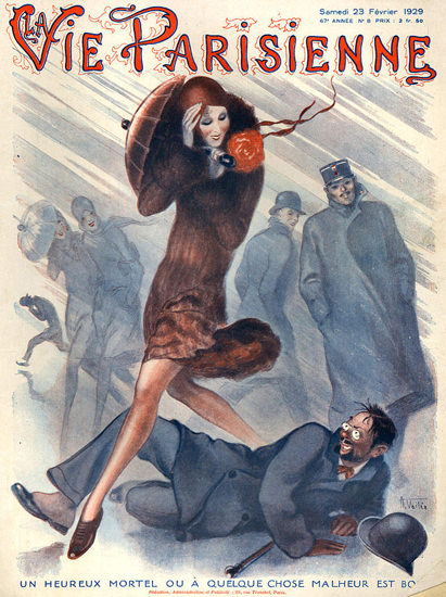 La Vie Parisienne 1929 Storm Un Heureux Mortel | Sex Appeal Vintage Ads and Covers 1891-1970