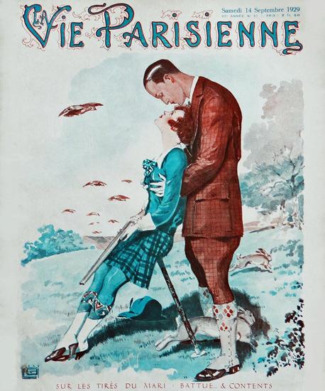 La Vie Parisienne 1929 Sur Les Tires Du Mari Georges Leonnec Sex Appeal | Sex Appeal Vintage Ads and Covers 1891-1970