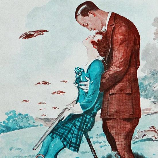 La Vie Parisienne 1929 Sur Les Tires Du Mari Georges Leonnec crop | Best of 1920s Ad and Cover Art