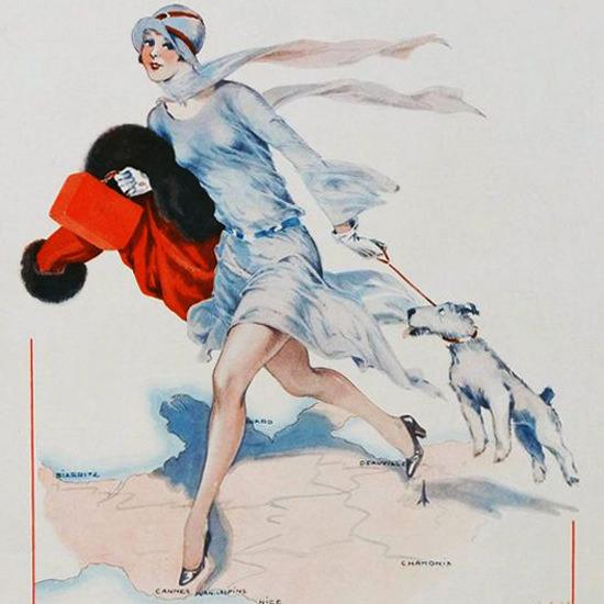 La Vie Parisienne 1929 Une Vraie Parisienne Georges Leonnec crop | Best of 1920s Ad and Cover Art