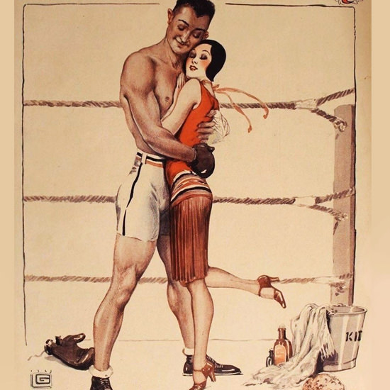 La Vie Parisienne 1930 Clinche Georges Leonnec crop | Best of Vintage Cover Art 1900-1970