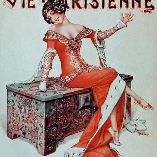 La Vie Parisienne 1930 Decembre 6 Cheri Herouard crop | Best of Vintage Cover Art 1900-1970