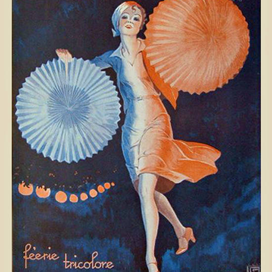 La Vie Parisienne 1930 Feerie Tricolore Georges Leonnec crop | Best of Vintage Cover Art 1900-1970