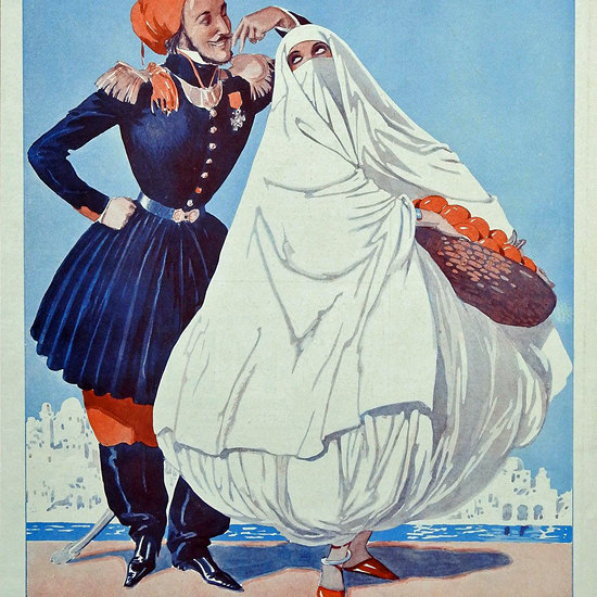 La Vie Parisienne 1930 La Conquete De L Algerie Georges Leonnec crop | Best of 1930s Ad and Cover Art