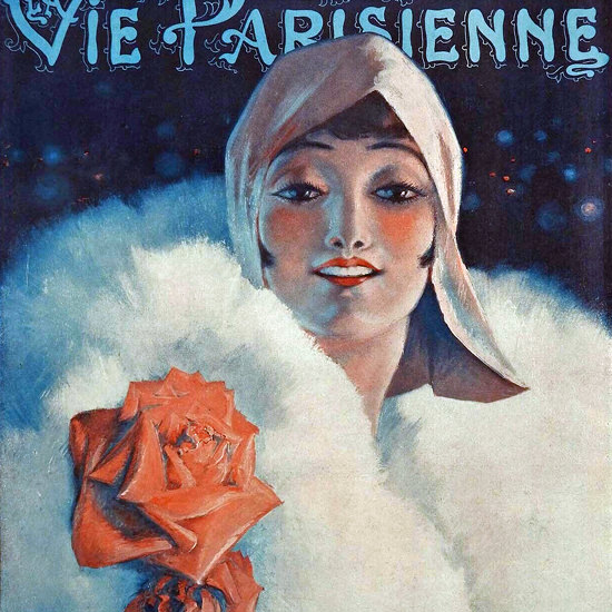 La Vie Parisienne 1930 Le Printemps Defie Les Frimas Leo Fontan crop | Best of 1930s Ad and Cover Art