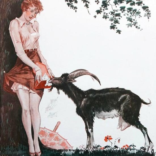La Vie Parisienne 1930 Les Grands Moyens Georges Leonnec crop | Best of Vintage Cover Art 1900-1970