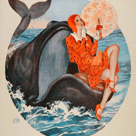 La Vie Parisienne 1930 Mamzelle Jonas Georges Leonnec crop | Best of 1930s Ad and Cover Art