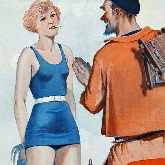 La Vie Parisienne 1930 Puisque Vous Fumez Georges Leonnec crop B | Best of Vintage Cover Art 1900-1970