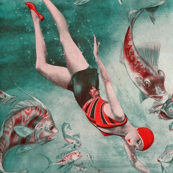 La Vie Parisienne 1930 Un Brillant Confrere Cheri Herouard crop | Best of Vintage Cover Art 1900-1970