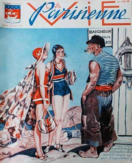 La Vie Parisienne 1931 Aout 22 Sex Appeal | Sex Appeal Vintage Ads and Covers 1891-1970