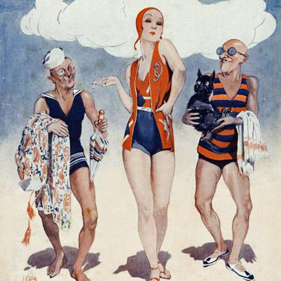 La Vie Parisienne 1931 Avril 1er Georges Leonnec crop | Best of Vintage Cover Art 1900-1970