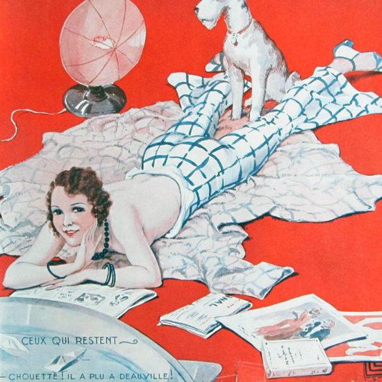 La Vie Parisienne 1931 Chouette Ceux Qui Restent Georges Leonnec crop | Best of 1930s Ad and Cover Art