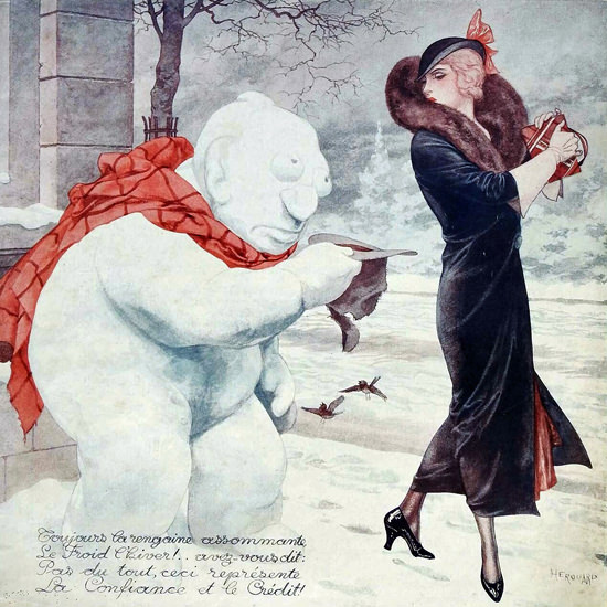 La Vie Parisienne 1931 Decembre 26 Cheri Herouard crop | Best of Vintage Cover Art 1900-1970