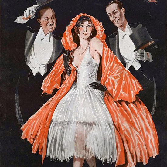 La Vie Parisienne 1931 Jeu De Domino Georges Leonnec crop | Best of Vintage Cover Art 1900-1970