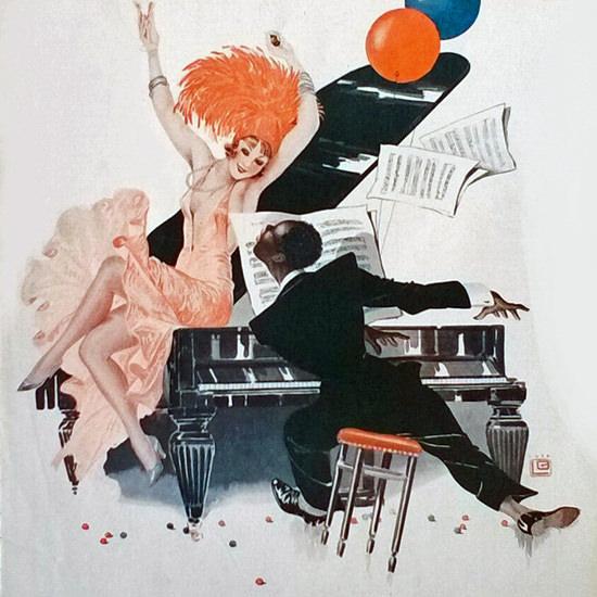 La Vie Parisienne 1931 La Grande Nouba Georges Leonnec crop | Best of Vintage Cover Art 1900-1970