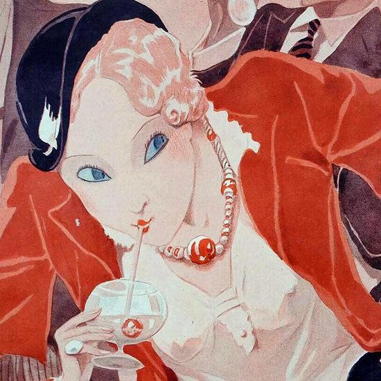 La Vie Parisienne 1931 La Vie En Rose Cocktail Henry Fournier crop B | Best of Vintage Cover Art 1900-1970