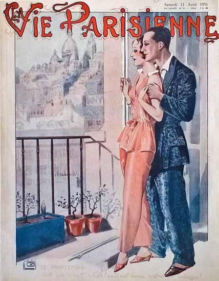La Vie Parisienne 1931 Le Printemps Sur La Ville Georges Leonnec | La Vie Parisienne Erotic Magazine Covers 1910-1939