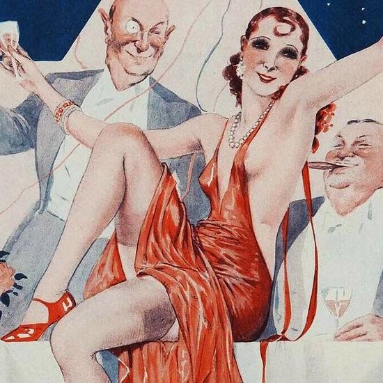 La Vie Parisienne 1931 Nativite Les Tables Georges Leonnec crop B | Best of 1930s Ad and Cover Art