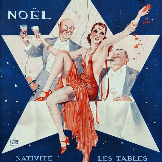 La Vie Parisienne 1931 Nativite Les Tables Georges Leonnec crop | Best of Vintage Cover Art 1900-1970