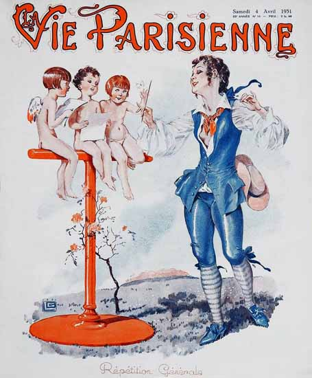 La Vie Parisienne 1931 Repetition Generale Sex Appeal | Sex Appeal Vintage Ads and Covers 1891-1970