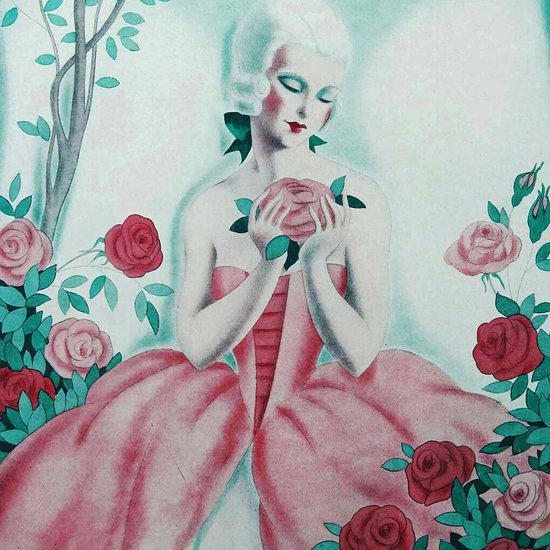 La Vie Parisienne 1931 Une Rose Parmi Les Roses Fabius Lorenzi crop | Best of Vintage Cover Art 1900-1970